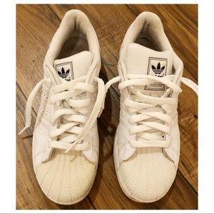 Adidas Superstar Sneakers in all white, size 7